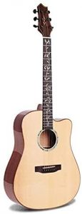 38 Sunburst Wood Guitar
