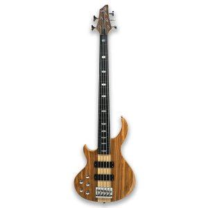 Left-Handed 5 String Bass Guitar with Sleek Design