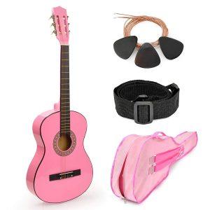 Master Play Pink Wood Guitar
